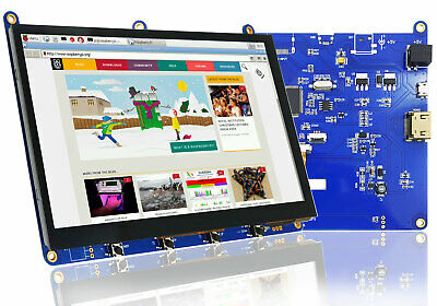 """Raspberry PI 7"""" inch Touchscreen Display with HDMI,USB Capacitive Touch Panel"""