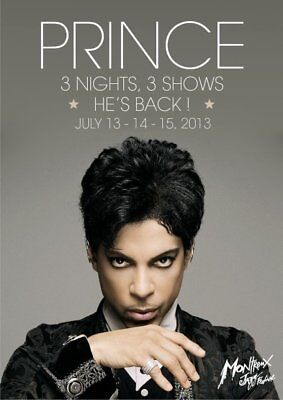 """Prince """"Montreux Jazz Festival"""" Stand-Up Display - Rock Concert Pop Music"""