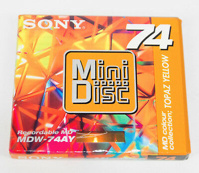 Sony Mini Disc 74 Topaz Yellow MDW-74AY Sony MD MiniDisc 74Min Made In Japan