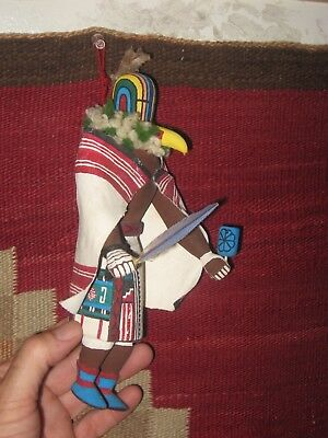 HOPI FLOWER TSITOTO KACHINA NATIVE AMERICAN INDIAN KATSINA DOLL c1950-Low Start!