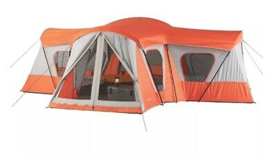 NEW Ozark Trail Outdoor 14-Person Tent Cabin Big Family Base Camp Large 4-Rooms