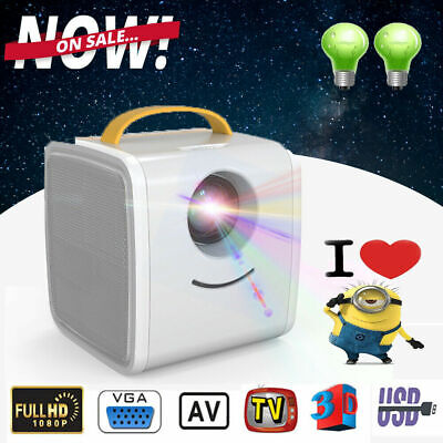 Mini Portable LED Projector LCD HomeTheater Video 3D Proyector 1080P HDMI USB AV