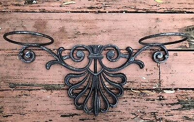 "Vintage Cast Iron Ornate Wall Sconce 22"" Large Very Heavy"