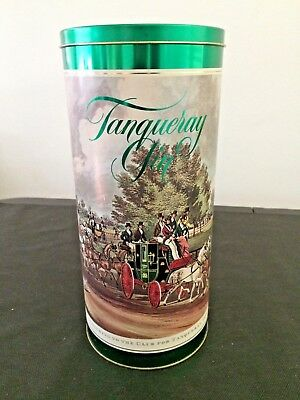 """VTG Large 12"""" London Tanqueray Bottle Advertising Tin Can Dry Gin Anniversary Ed"""