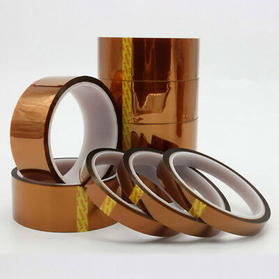 New 5/10/20/50mm100ft Heat Resistant High Temperature Polyimide Kapton Tape 2x