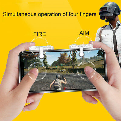 PUBG Shooter Controller Smartphone Mobile Game Trigger Fire Button Handle L1R1 M