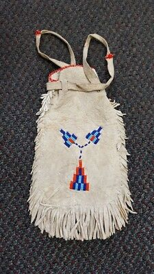Vintage Native American Indian Double Side Beaded Bag