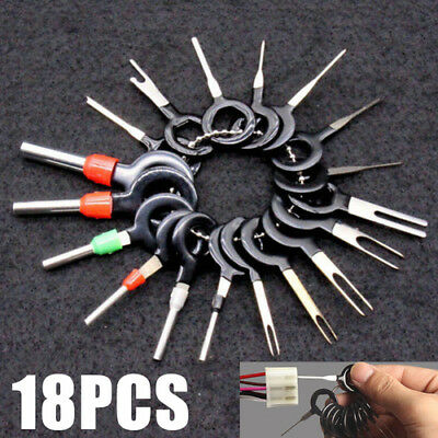 18Pcs Car Wire Harness Plug Terminal Extraction Pick Connector Pin Remove Tool