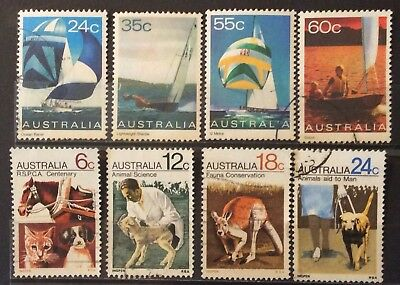 Australian Stamps 1971-81 2 Sets Stamps RSPCA-Yachts Fine Used (B14-29a)