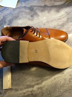 J/'s.o.l.e Men Dress Shoes Leather Lined Cap Toe Lace Up Oxford Latex Footbed