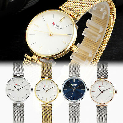 Chic CURREN Luxury Women Mens Watch Analog Quartz Analog Wrist Watch Xmas Gift