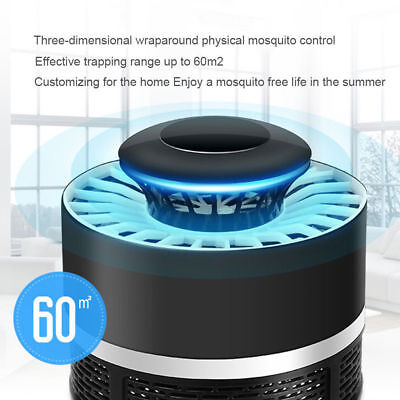 USB Electric Mosquito Killer Pest Bug Insect Trap Zapper LED Lamp Safe for Baby