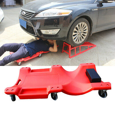 Big Red 40 Inch Creeper Garage Plastic Rolling Car Repair Mechanic Cart