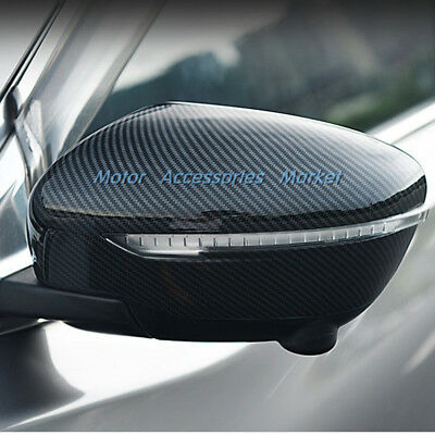 Sport Carbon Fiber Style Rearview Mirror Cover For Nissan Rogue Murano Qashqai
