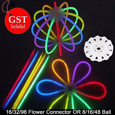 UP600x Neon Color Glow Sticks +96x Connectors Glowsticks Party Glow In The Dark