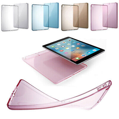 "For New Apple iPad 9.7"" 2018/2017 Transparent Clear TPU Silicone Case Back Cover"
