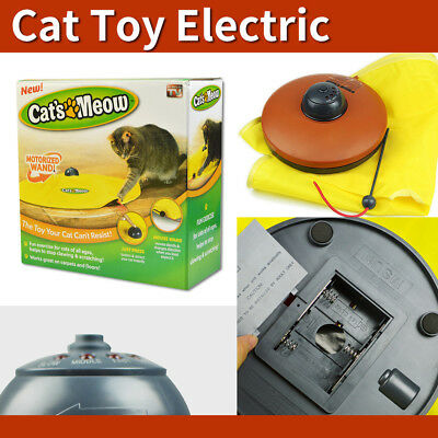 Electronic Kitten Cat Meow Have Fun Toy Rotating Moving Mouse Chase Interactive