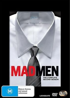 Mad Men : Season 2 (DVD, 2009, 3-Disc Set) LIKE NEW REGION 4 DVD FREE POST