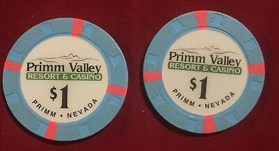 1.00 Chip from the Primm Valley Casino in Primm Las Vegas Nevada