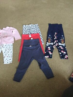 Girls 12-18 Month Autumn/Winter Clothes Bundle - Leggings Including 2 Christmas