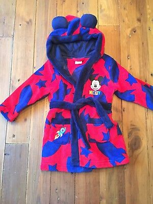 Boys 12-18 Months Dressing Gown Disney Mickey Mouse