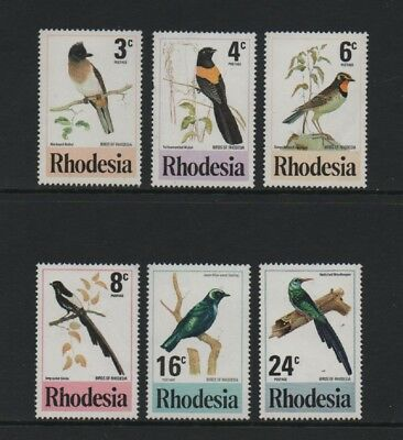 Rhodesia 1977 Birds Of Rhodesia *mnh Set*
