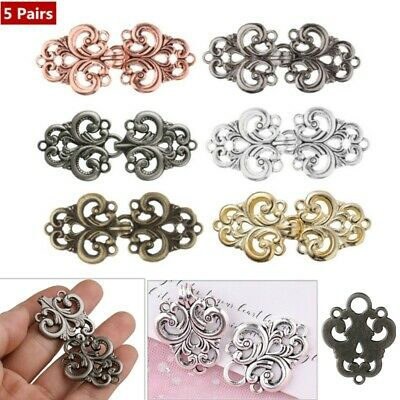 Women Ladies Vintage Swirl Flower Cape Cloak Clasp Fastener Shawl Cardigan Clips