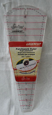 "Sew Easy Dresden Plate Ruler 3 3/8"" x 8 3/4"", Patchwork & Quilting Ruler"