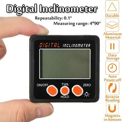 Digital LCD Protractor Angle Finder Bevel Level Box Magnetic Inclinometer Meter