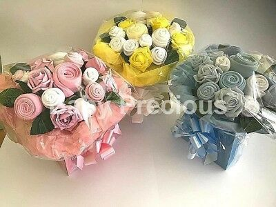 Baby Girl Clothing Bouquet, Baby Shower/Gift, Newborn, Mum To Be, Maternity Pink