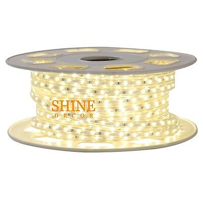 2835 Dimmable 110V 15m/49.2ft Led Flexible Strip Rope Light with Accessories