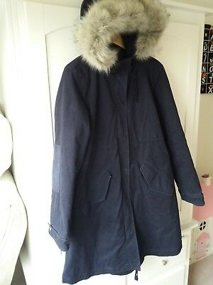 GAP Navy Winter Parka Maternity Coat Medium