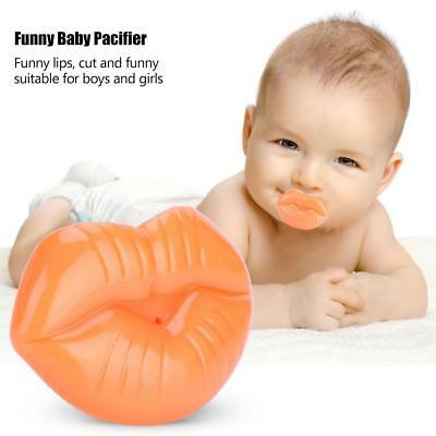 Funny Infant Pacifier Teether Orthodontic Safe Soother Dummy Lip Silicone Nipple
