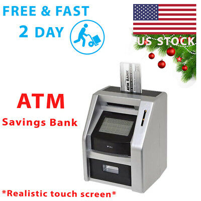ATM Savings Bank For Kids With Realistic Touch Screen Toddler Educational Toys