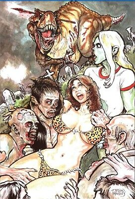 Cavewoman The Zombie Situation #1 Devon Massey Virgin Cover B