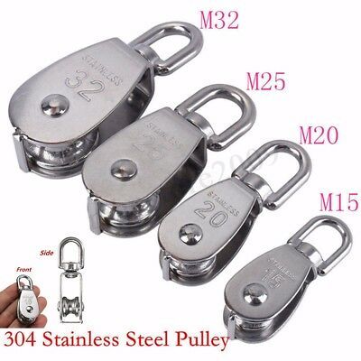 M15/M20/M25/M32 Heavy Duty Steel Single Wheel Swivel Lifting Rope Pulley