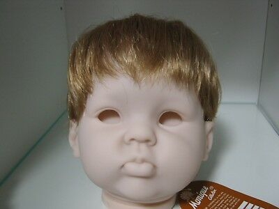 Reborn doll Wig.MONIQUE INFANT 16-17 (LIGHT STRAWBERRY)