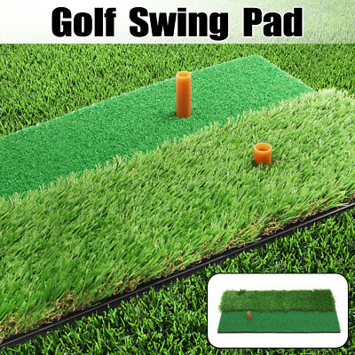 12'' x 24'' 2 in 1 Golf Hitting Mat Tees Practice Launch Pad Or 10 Pc Golf  new