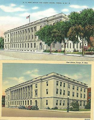 Fargo, ND / 2 Different / Post Office & Court House / circa 1940's / Lot P533