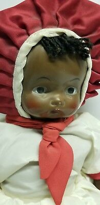 Antique African American Black Doll