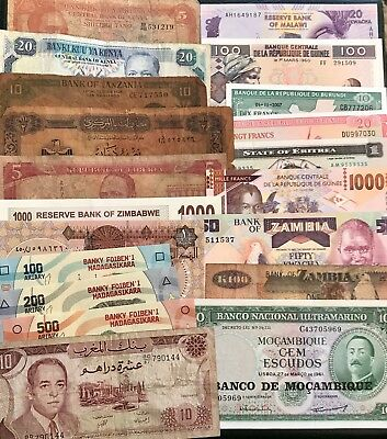 20 Banknotes From Africa