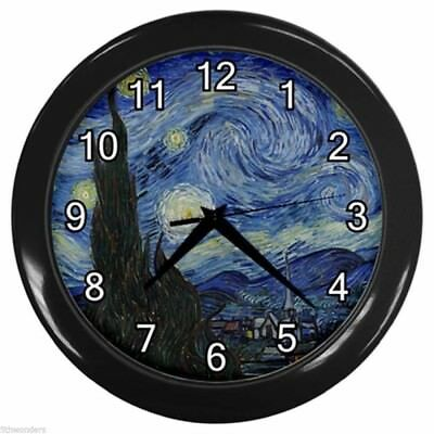 VINCENT VAN GOGH STARRY NIGHT Wall Clock Way Cool