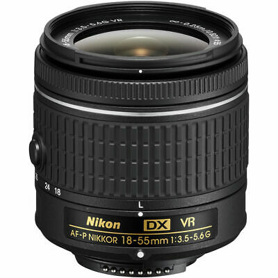 Nikon AF-P DX NIKKOR 18-55mm f/3.5-5.6G VR Lens - New in White Box