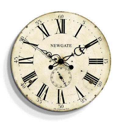 NEWGATE® CLOCKS Cream Large Antique Vintage Style Classic Round Wall Clock 50cm
