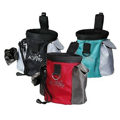 Trixie 2 in 1 Dog Puppy Training Treat Snack Bag + Integrated Poo Bag Holder