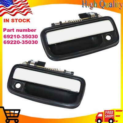 Chrome Door Handle (Pair) For 95-2004 Toyota Tacoma Pickup Truck Front Outside