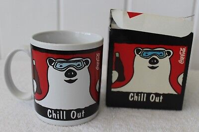 Vintage Coca Cola Chill Out Polar Bear Coffee Mug With Box Presented By Dakin 19