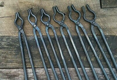 Blacksmith Bolt Tongs Set for anvil hardy vise and forge tools knife making