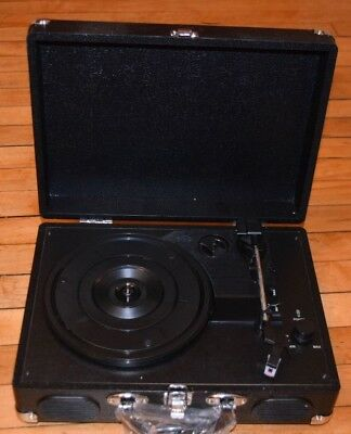 Portable Briefcase Bluetooth USB Vinyl Record Player with built in speakers