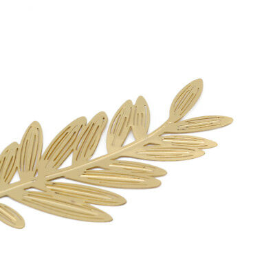 Bookmark Hollow Out Mini Olive Branch Beautiful Metal Stationery Gift 6A